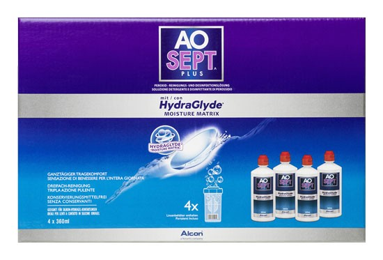 AOSEPT PLUS HydraGlyde 4x360ml