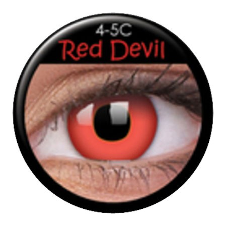 ColourVUE Funny Lens Red Devil mit Stärke