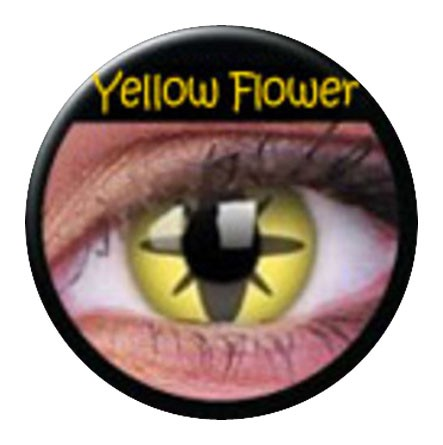 ColourVUE Funny Lens Yellow Flower