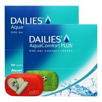 Dailies AquaComfort Plus 2x90er inkl. gratis Weekend Box