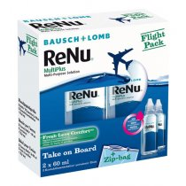 ReNu Multiplus Flight Pack 2x60ml + 2 Behälter